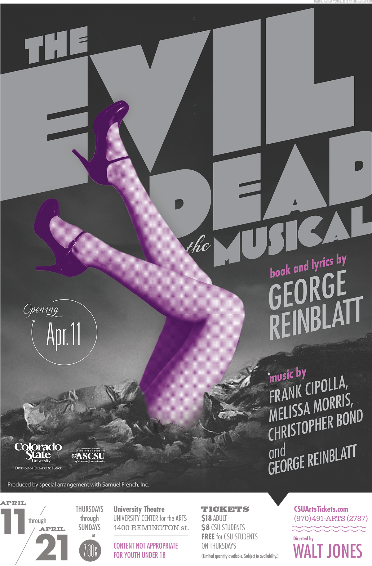 The Evil Dead the Musical 2013 Promotional Poster