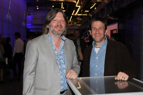 Roger Hanna and Price Johnston at the Drama Desk Awards Nomination Party in NYC.