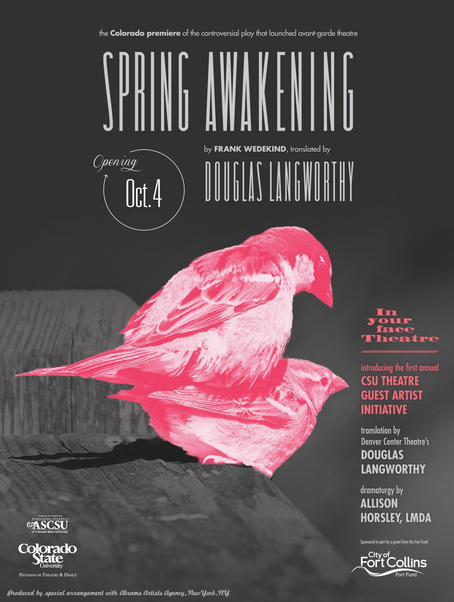 Spring Awakening 2012 Promotional Poster