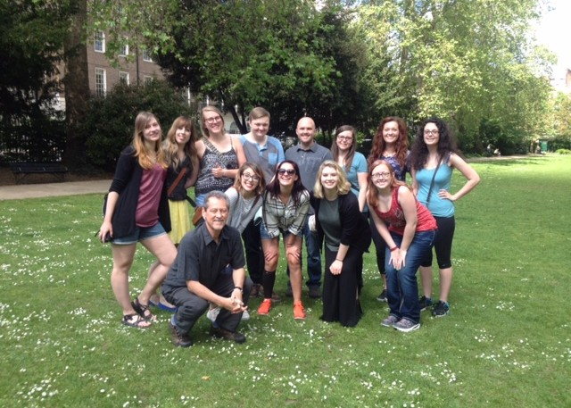 CSU Theatre Students in Russell Square Gardens