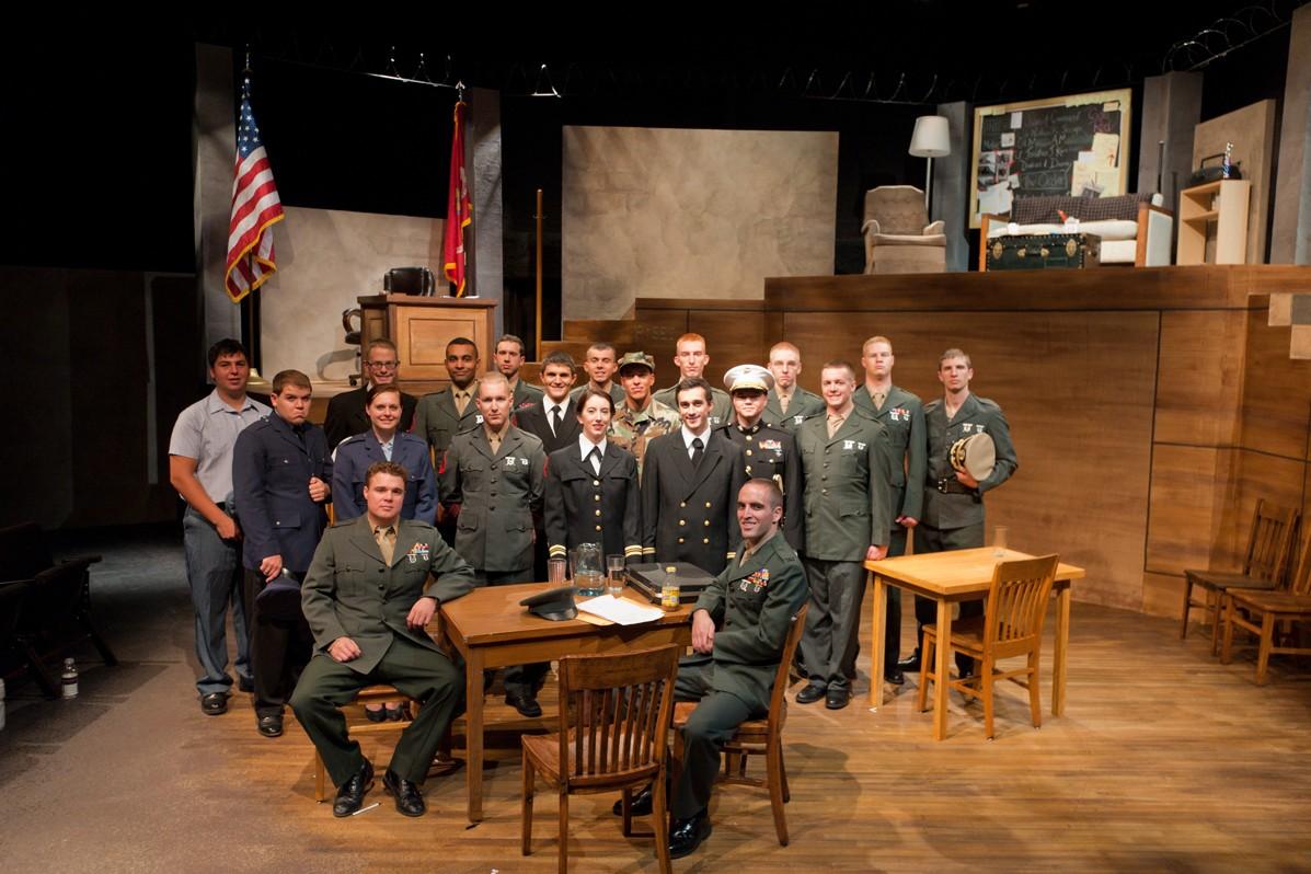 A Few Good Men 2011 Production Photo - Entire Cast