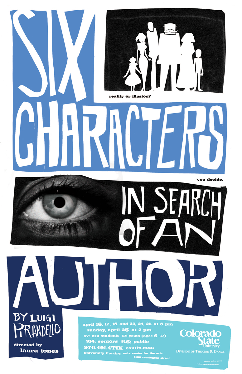Six Characters in Search of an Author 2009 Promotional Poster