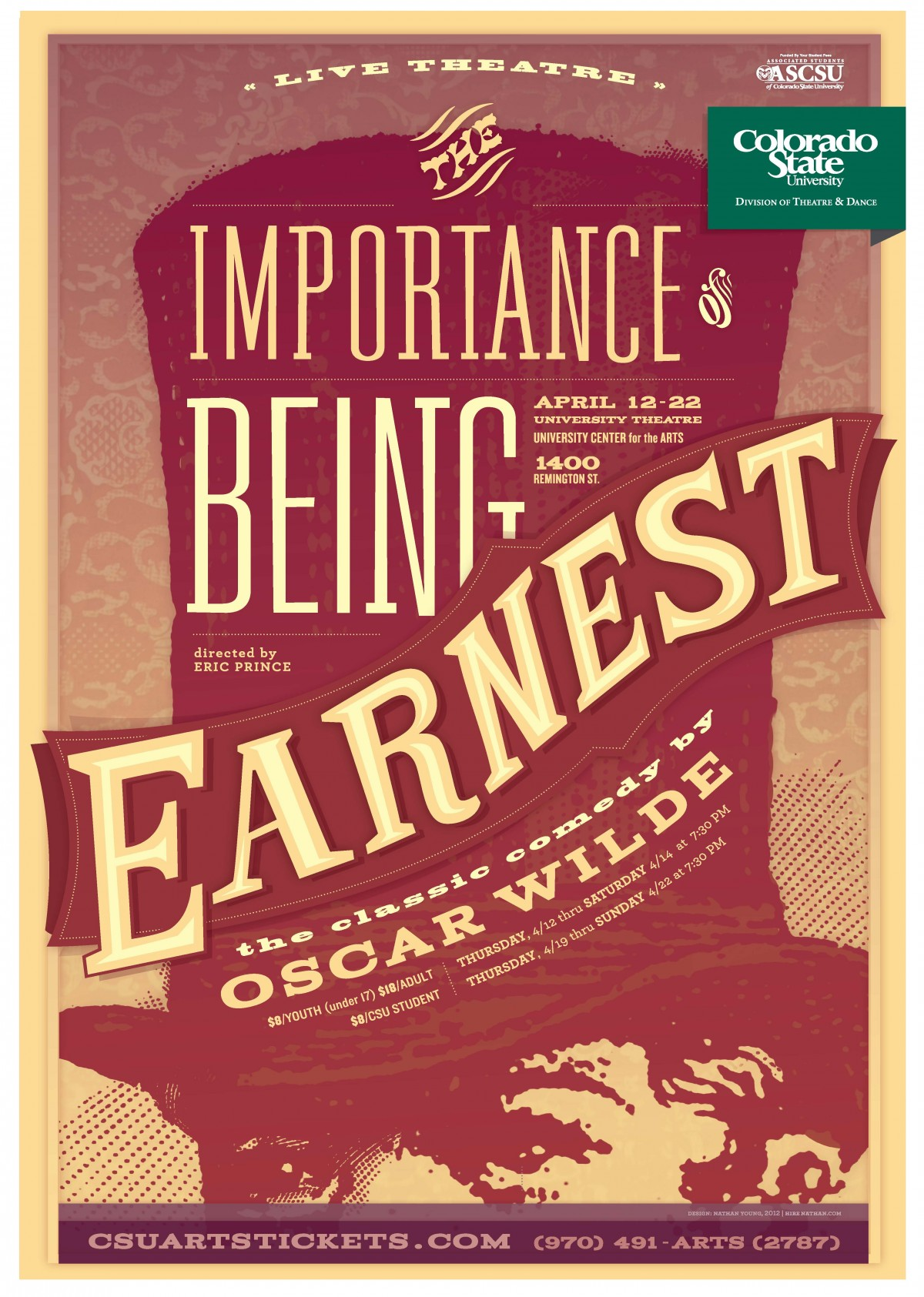 The Importance of Being Earnest 2012 Promotional Poster
