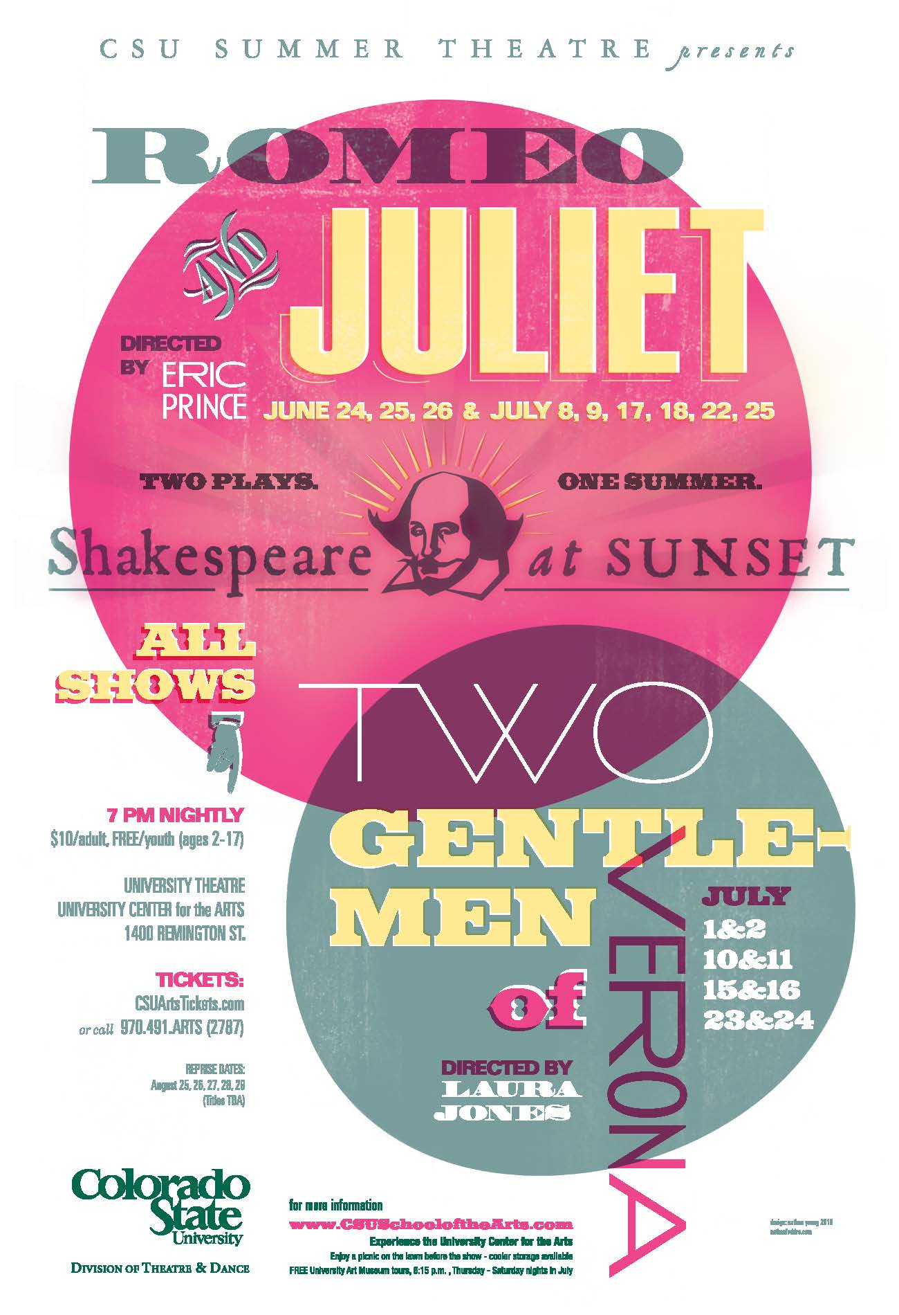 Shakespeare at Sunset 2010 Promotional Poster