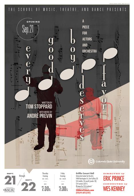 CSU Theatre and the University Symphony Orchestra Present <em>Every Good Boy Deserves Favor</em>