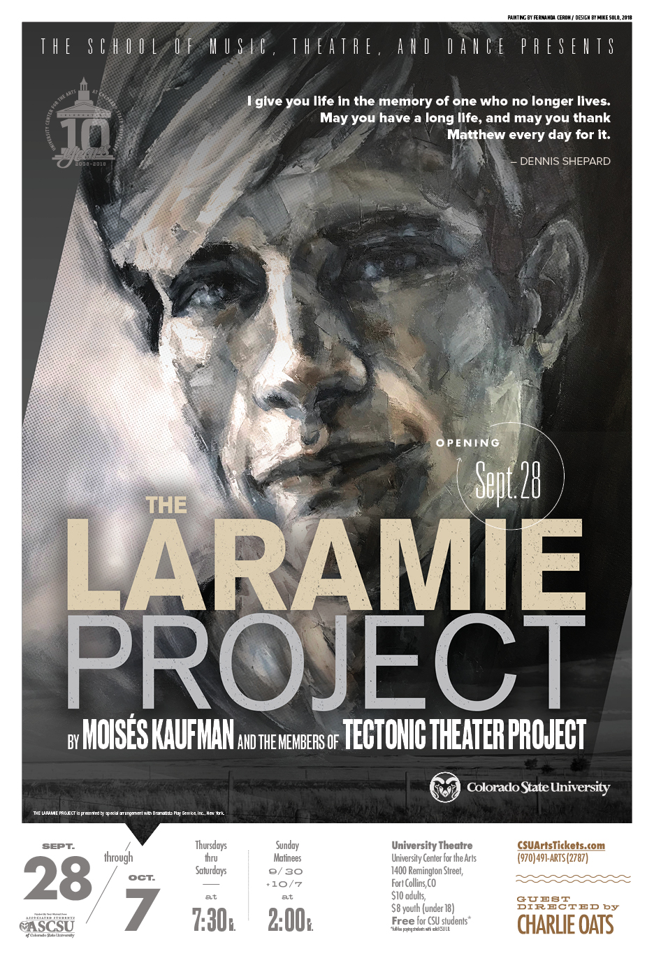 The Laramie Project 2018 Promotional Poster