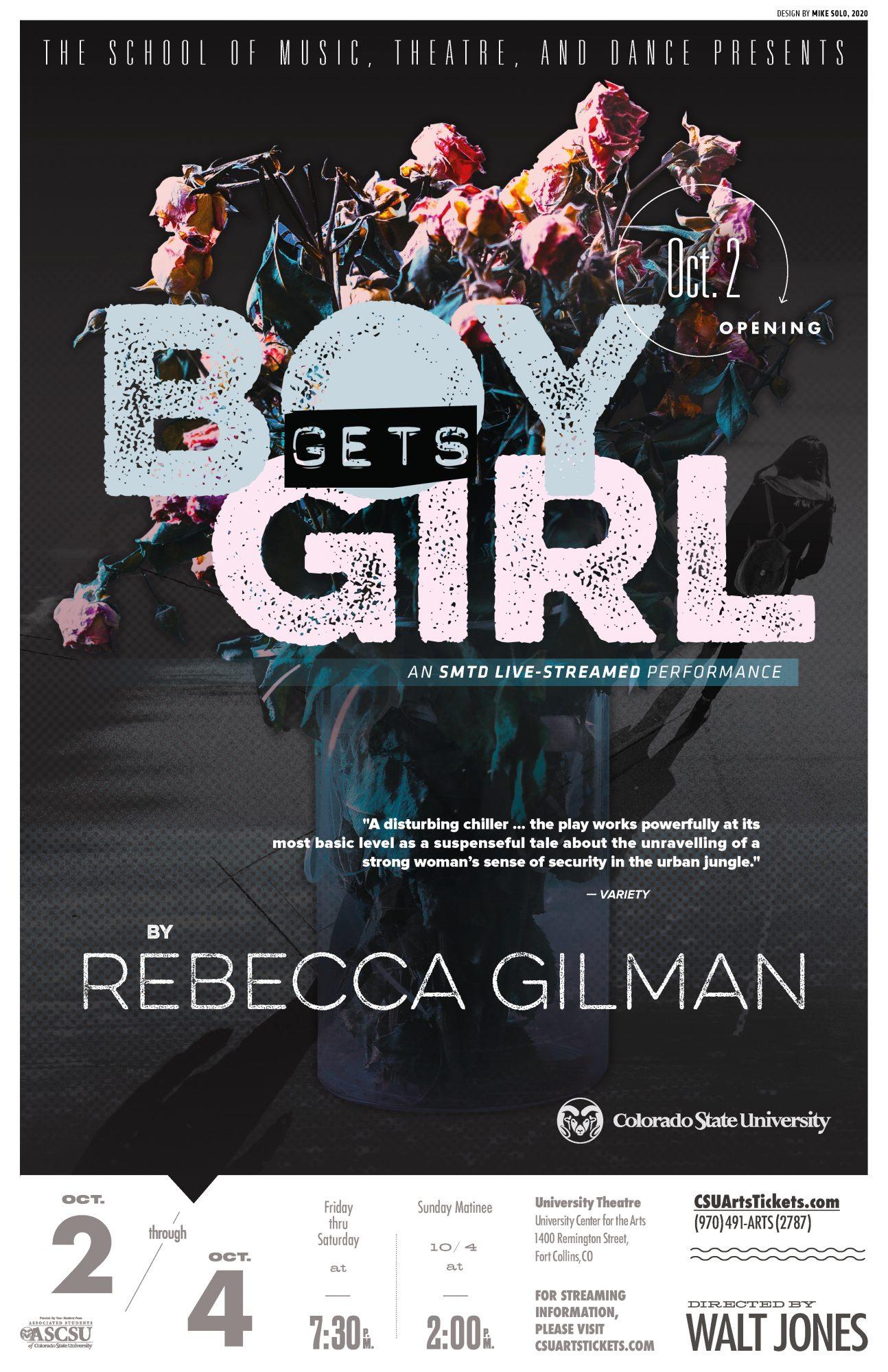 LIVESTREAM: <em>Boy Gets Girl</em> by Rebecca Gilman, directed by Walt Jones