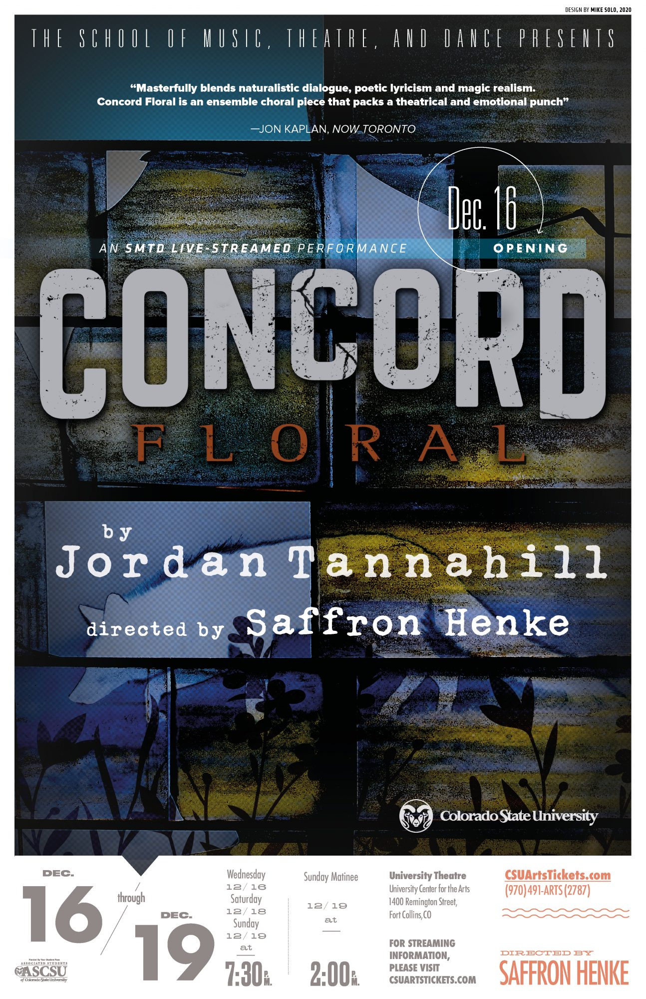 Concord Floral 2020 promotional poster
