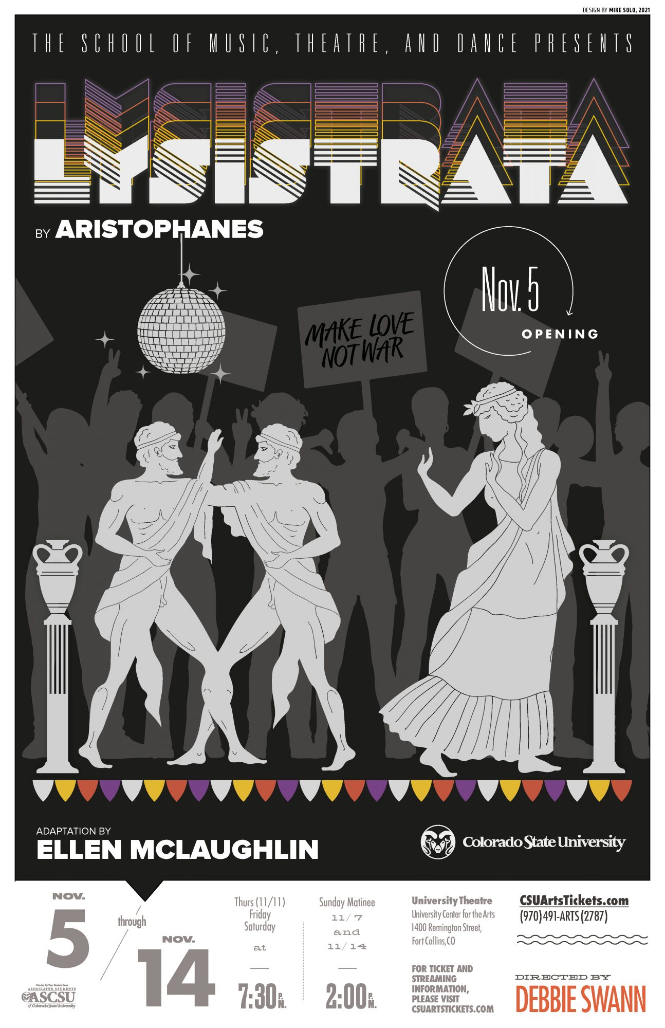<em>Lysistrata</em> by Aristophanes, adaptation by Ellen McLaughlin